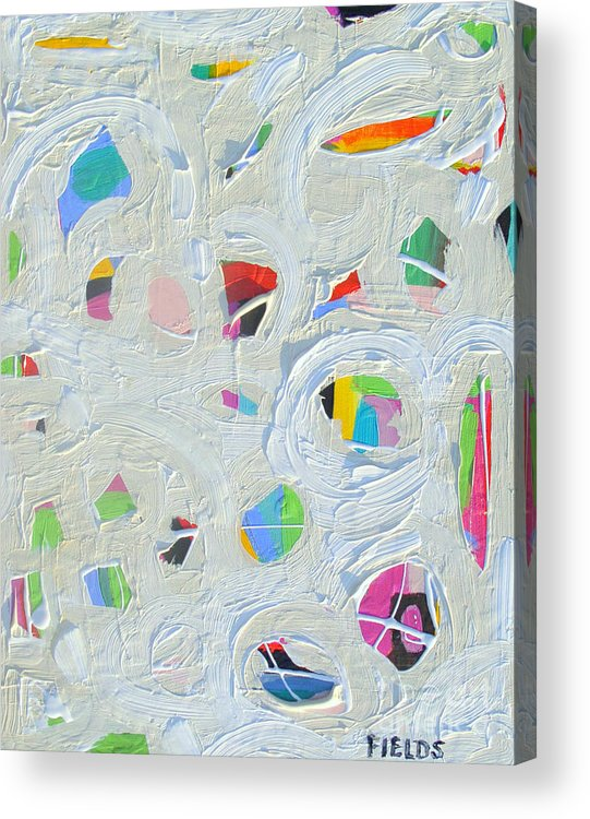 Bold Acrylic Print featuring the painting Indication by Karen Fields