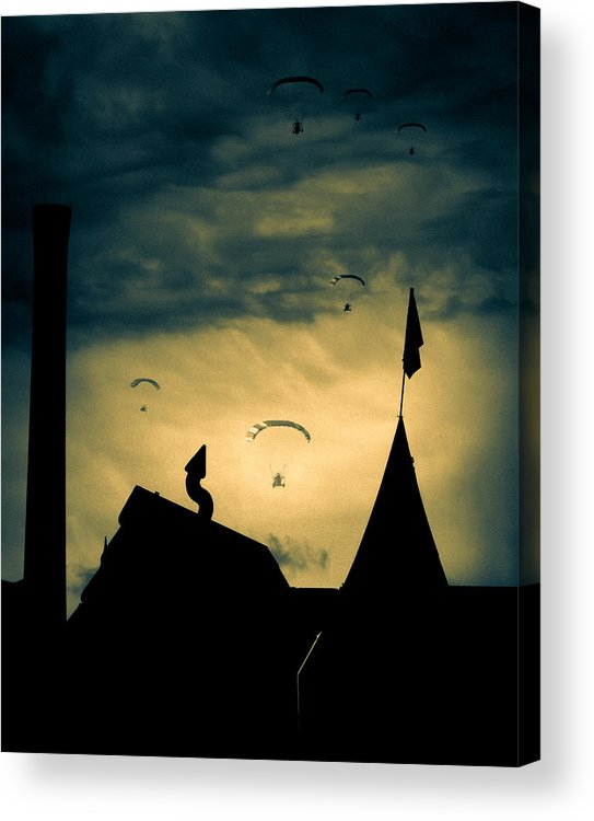 Apocalypse Acrylic Print featuring the photograph Industrial Carnival by Bob Orsillo