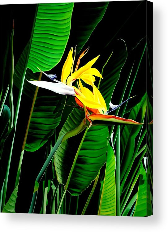 Floral Acrylic Print featuring the painting Inseparable Love by Sunhee Kim Jung