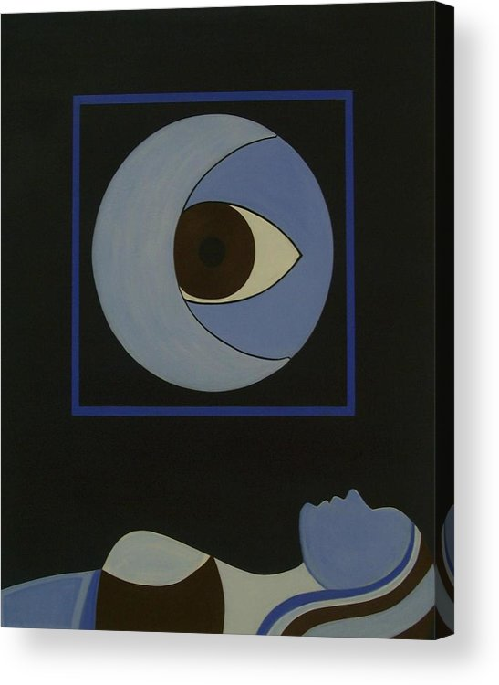 Figurative Acrylic Print featuring the painting Insomniac by Sandy Bostelman