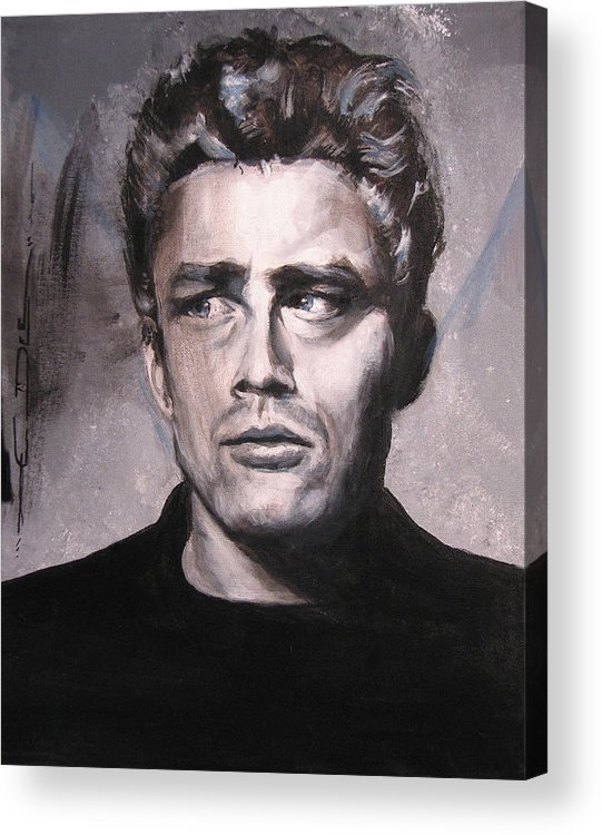James Dean Acrylic Print featuring the painting James Dean Two by Eric Dee
