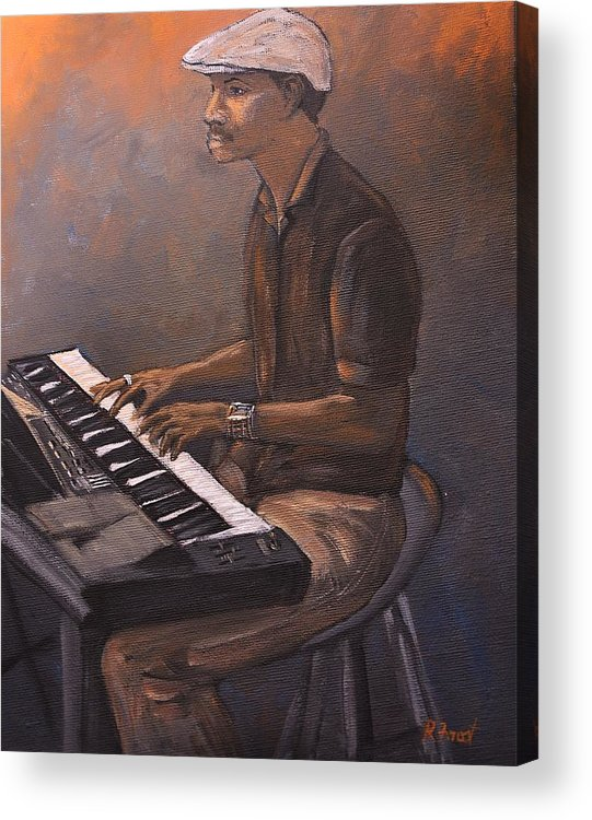 Jazz Acrylic Print featuring the painting Jazz by Reb Frost
