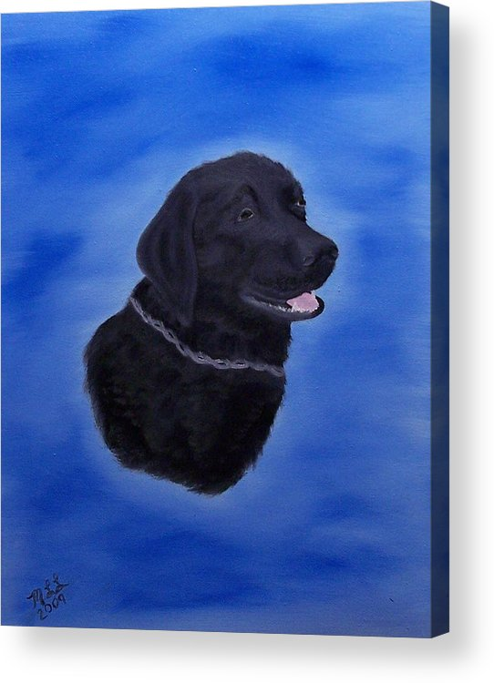Animal Acrylic Print featuring the painting Jesse by Marie Lamoureaux