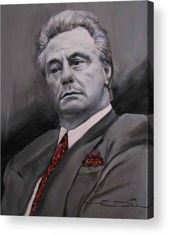 Gotti Acrylic Print featuring the painting John Gotti by Eric Dee