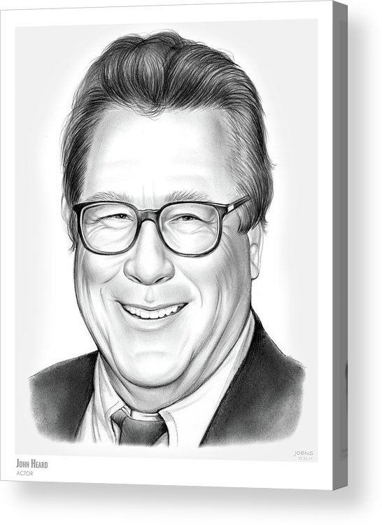 Rip Acrylic Print featuring the drawing John Heard by Greg Joens