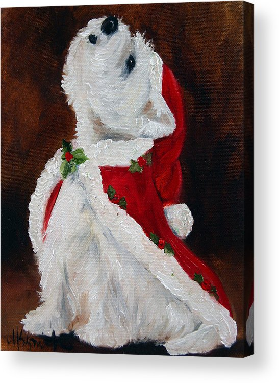 Art Acrylic Print featuring the painting Joy To The World by Mary Sparrow