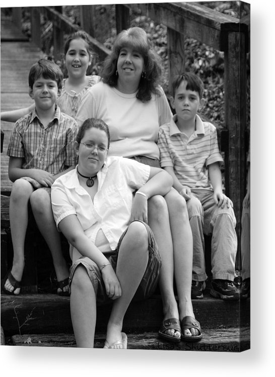 Acrylic Print featuring the photograph Julie's Family by Lisa Johnston