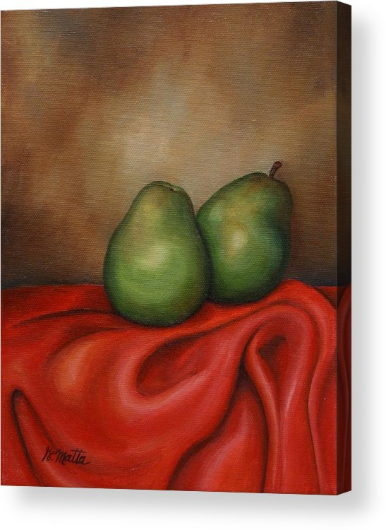 Still Life Acrylic Print featuring the painting Just A Pair by Gretchen Matta
