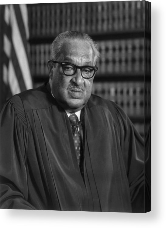 History Acrylic Print featuring the photograph Justice Thurgood Marshall 1908-1993 by Everett