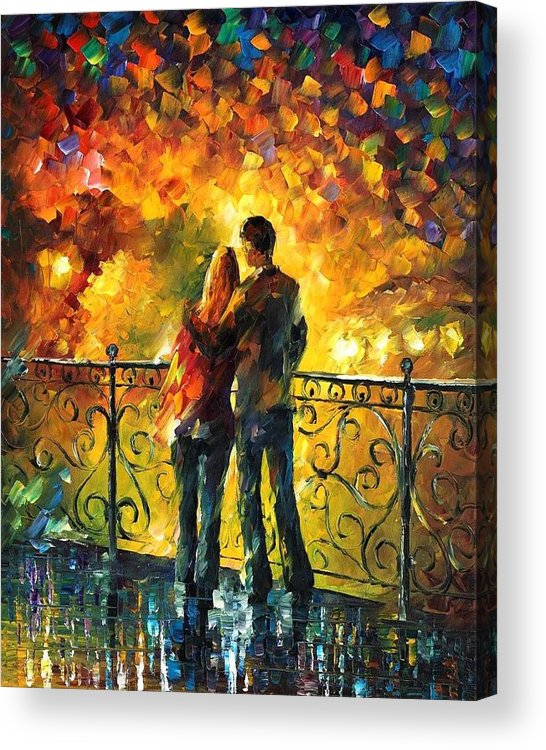 Afremov Acrylic Print featuring the painting Last Date by Leonid Afremov