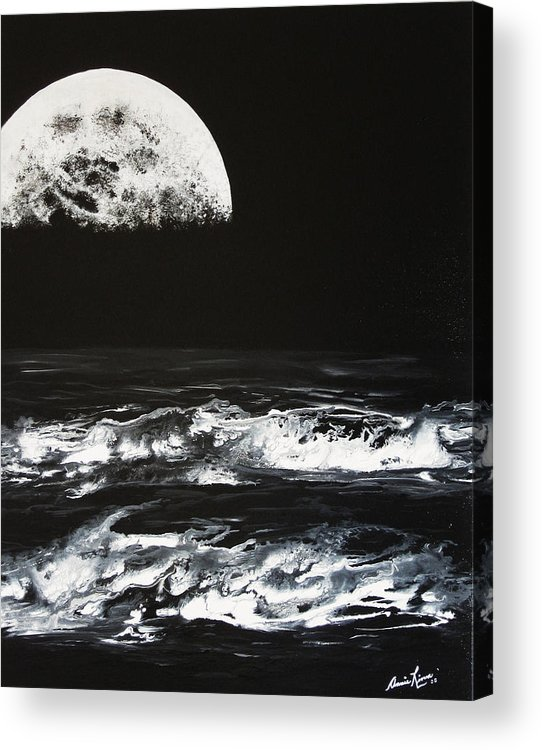 Contemporary Sea Acrylic Print featuring the painting Le Majestueux by Annie Rioux
