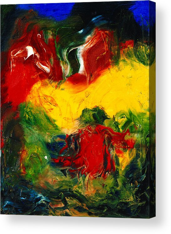 Abstract Acrylic Print featuring the painting Le Penseur by Dominique Boutaud