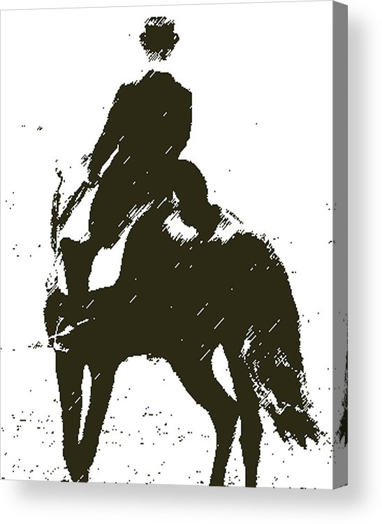 Horse Acrylic Print featuring the digital art Lets Dance by Donna Thomas