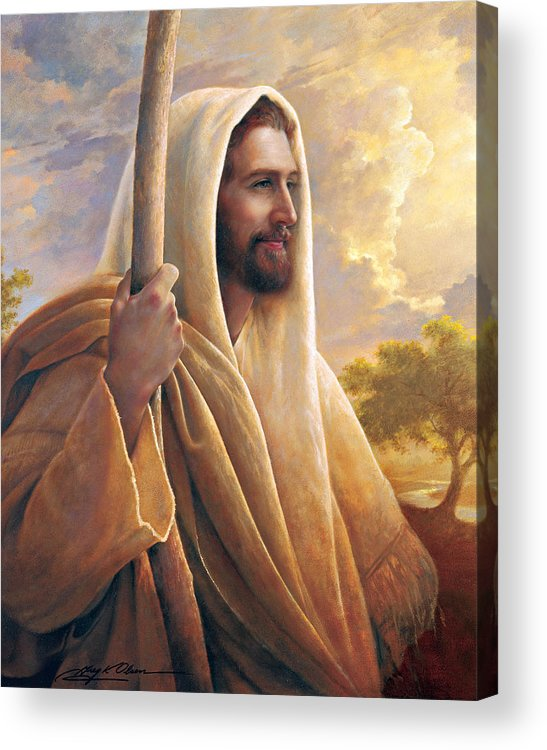 Light Of The World Acrylic Print featuring the painting Light Of The World by Greg Olsen