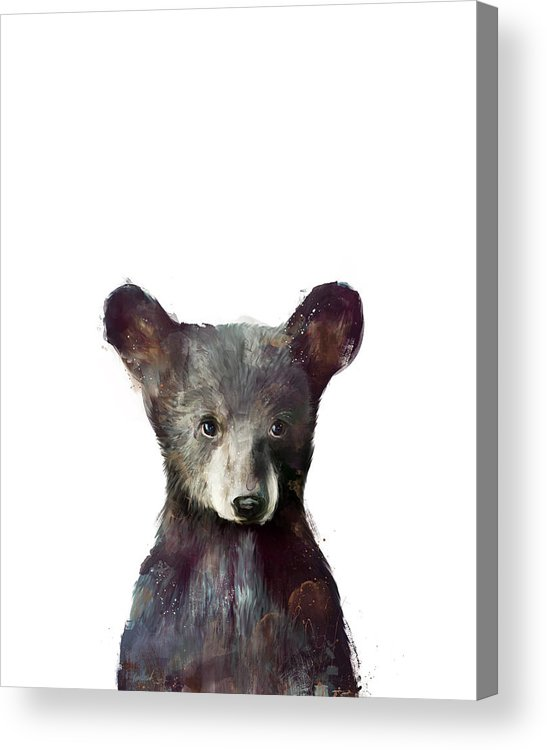 Bear Acrylic Print featuring the painting Little Bear by Amy Hamilton