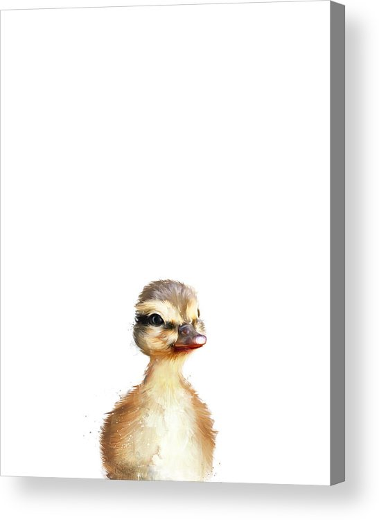 Duck Acrylic Print featuring the painting Little Duck by Amy Hamilton
