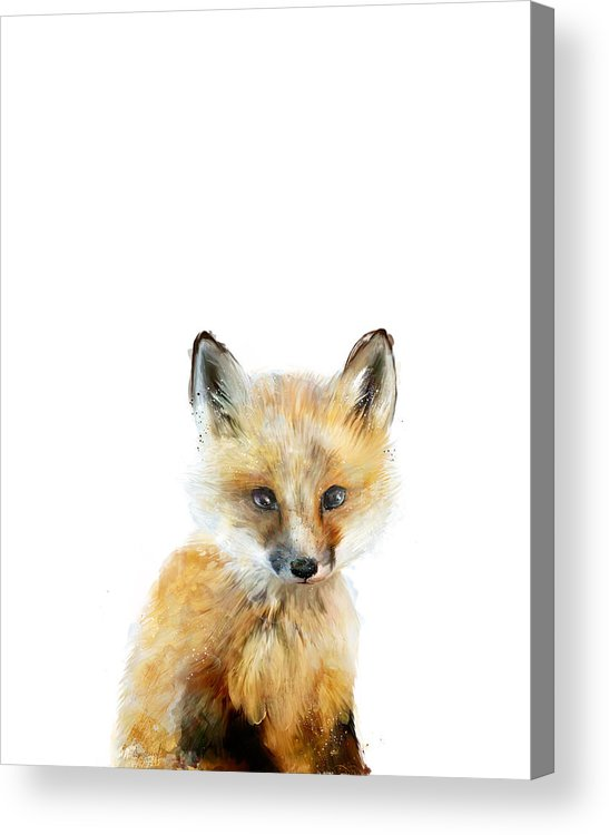 Fox Acrylic Print featuring the painting Little Fox by Amy Hamilton