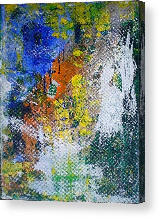 Acrylic Print featuring the mixed media Love Angel by Aleksandra Buha