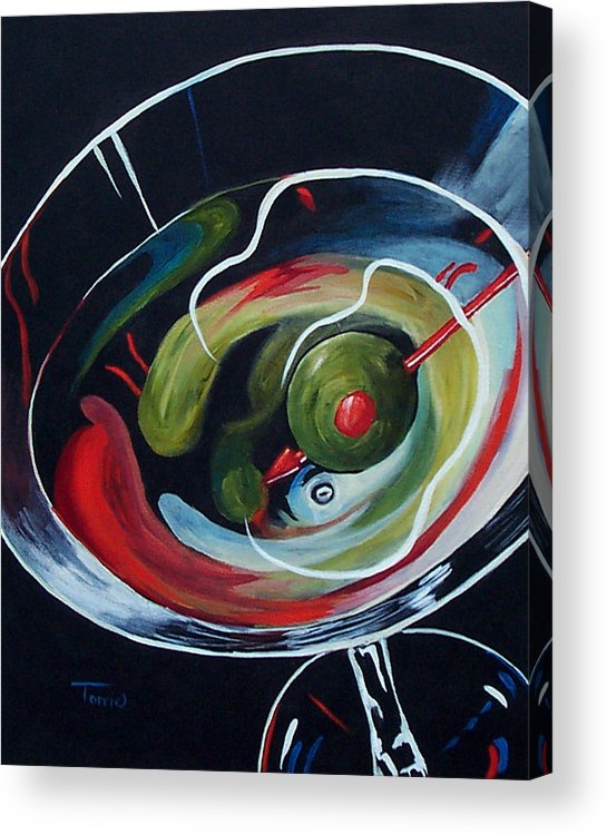 Martini Acrylic Print featuring the painting Martini - Stirred Iv by Torrie Smiley