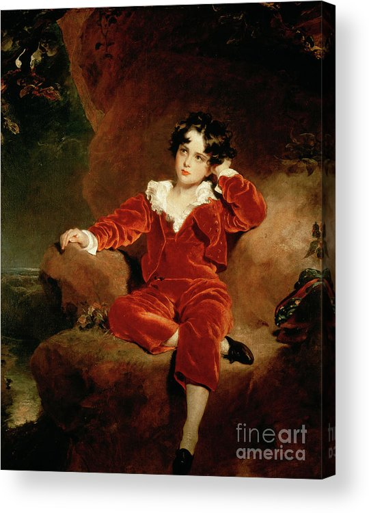 Sir Thomas Lawrence Acrylic Print featuring the painting Master Charles William Lambton by Sir Thomas Lawrence