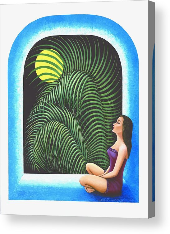 Yoga Relaxation Acrylic Print featuring the painting Meditation by Belle Perez-de-Tagle