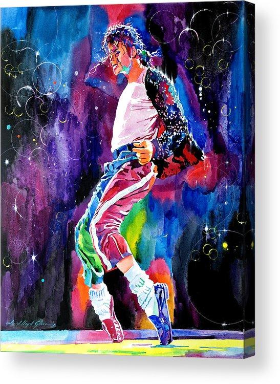 Michael Jackson Acrylic Print featuring the painting Michael Jackson Dance by David Lloyd Glover