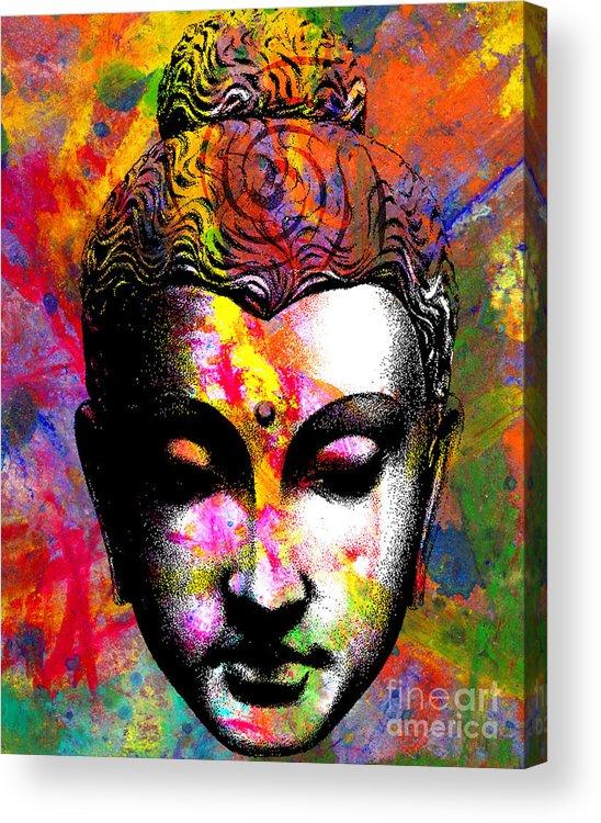 Ancient Acrylic Print featuring the digital art Mind by Ramneek Narang