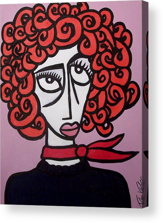 Portaits Acrylic Print featuring the painting Molly by Thomas Valentine