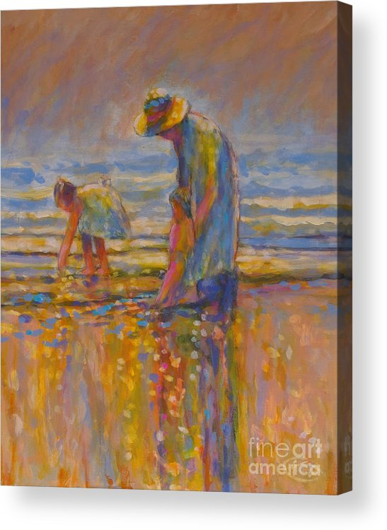 Children Acrylic Print featuring the painting Mom by Kip Decker