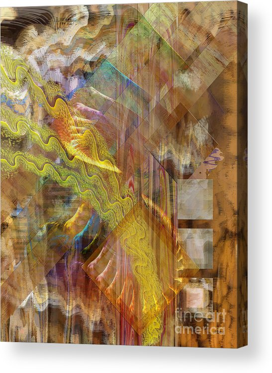 Morning Dance Acrylic Print featuring the digital art Morning Dance by John Beck