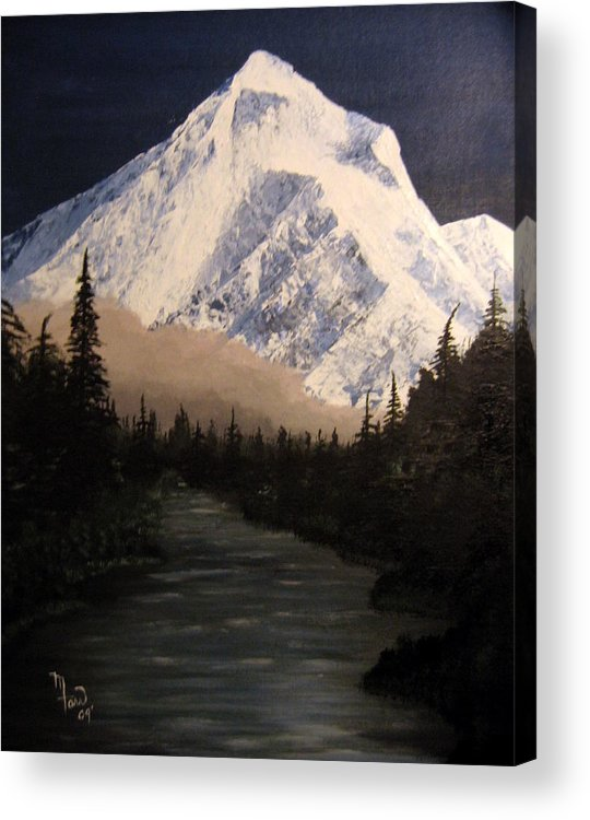 Landscape Acrylic Print featuring the painting Mt Hood by Mark Farr