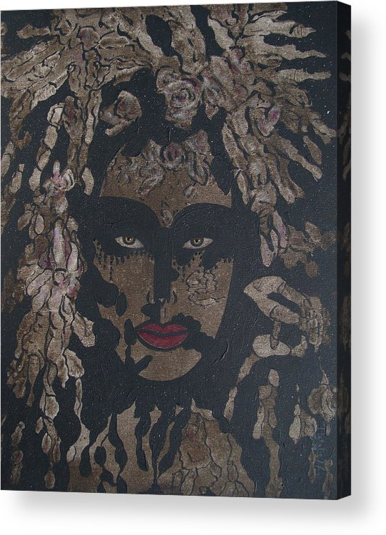 Figurative Acrylic Print featuring the painting Mysterious Desire by Natalie Holland