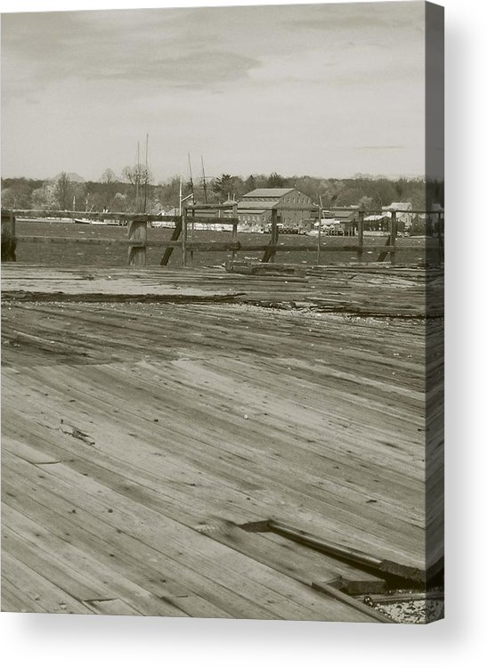 Mystic Dock Acrylic Print featuring the photograph Mystic Dock by Heather Weikel