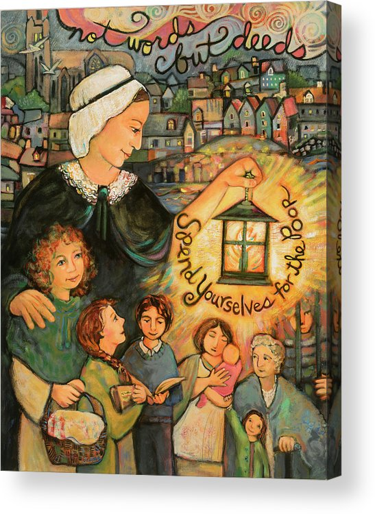 Jen Norton Acrylic Print featuring the painting Nano Nagle, Foundress Of The Sisters Of The Presentation by Jen Norton