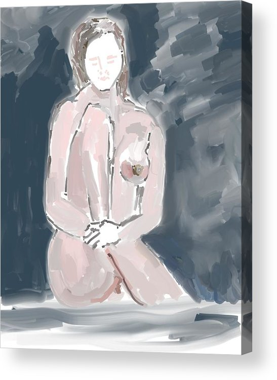 Art Acrylic Print featuring the painting Nude Model 4 by Carlos Camus