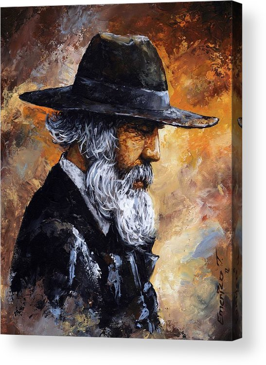 Portrait Acrylic Print featuring the painting Old Man by Emerico Imre Toth