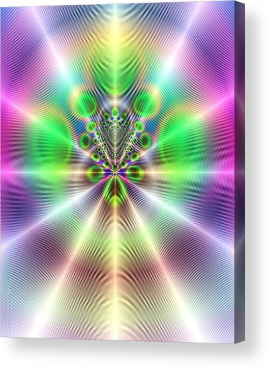 Abstract Acrylic Print featuring the painting Omni by Dreamlight Creations