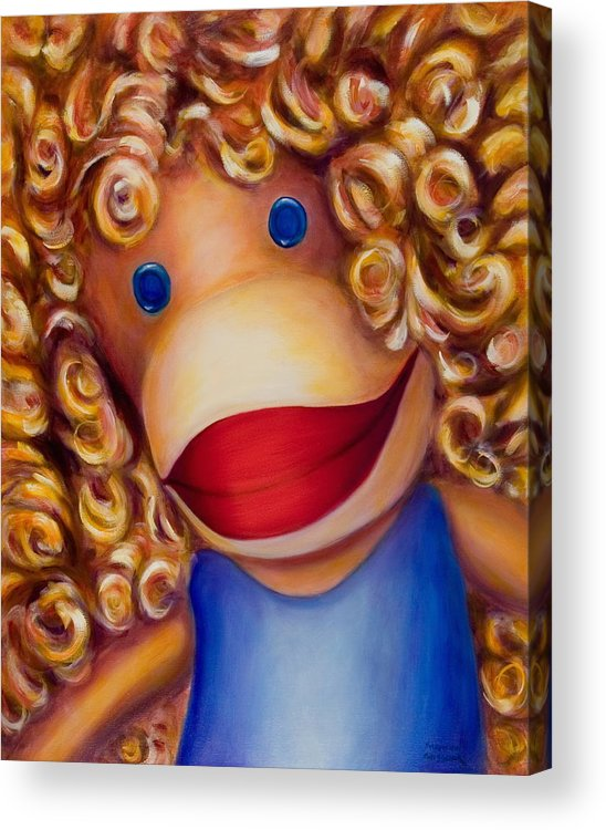 Children Acrylic Print featuring the painting Patricia by Shannon Grissom