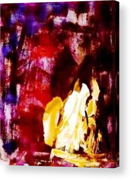 Abstract Acrylic Print featuring the painting Patriot Act I by Bruce Combs - REACH BEYOND