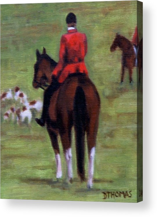 Horse Acrylic Print featuring the painting Pause by Donna Thomas