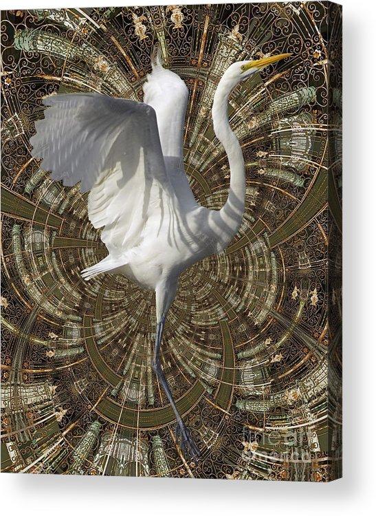 Bird Acrylic Print featuring the digital art Phoenix Rising by Chuck Brittenham