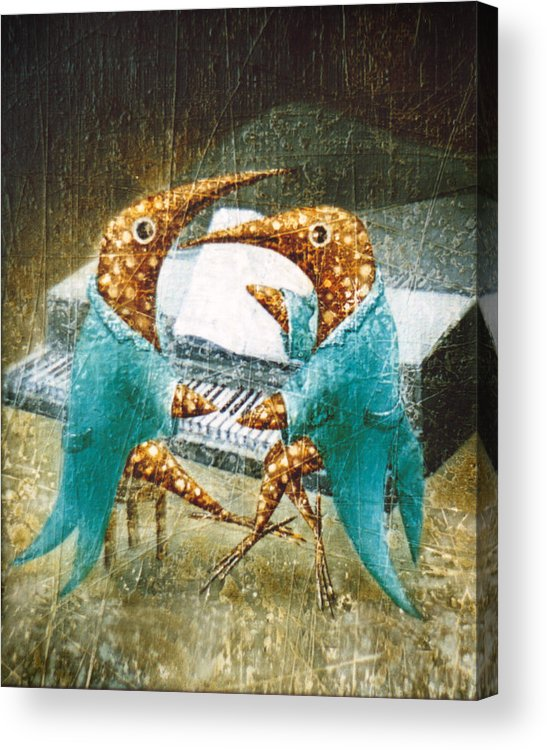 Music Acrylic Print featuring the painting Piano Lessons by Lolita Bronzini
