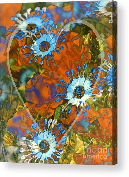 Floral Acrylic Print featuring the digital art Poppy Love by Chuck Brittenham