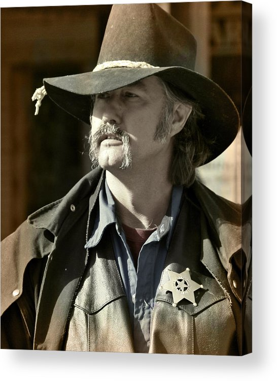Portrait Acrylic Print featuring the photograph Portrait Of A Bygone Time Sheriff by Christine Till