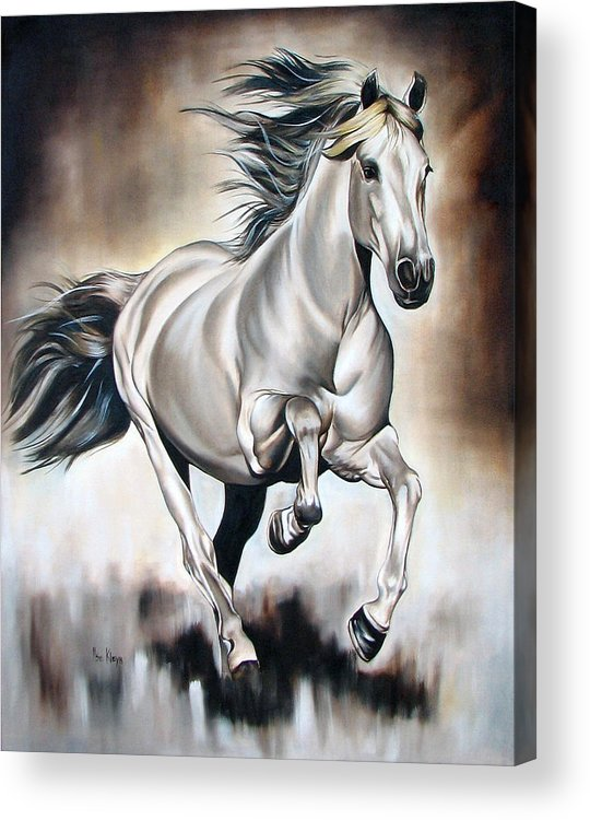 Horse Acrylic Print featuring the painting Power by Ilse Kleyn