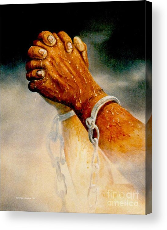 Blessing Acrylic Print featuring the painting Praying Hands by George Combs