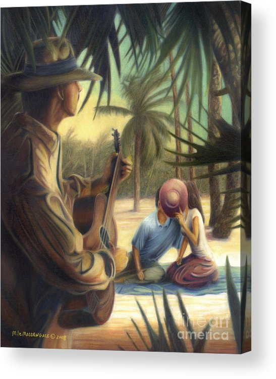 Music Art Acrylic Print featuring the drawing Private Serenade by Mike Massengale