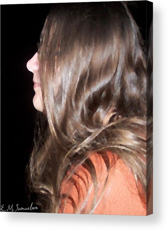 Woman Acrylic Print featuring the photograph Profile Of A Woman by Elise Samuelson