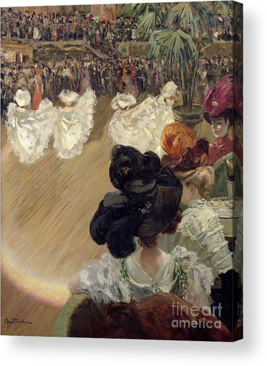 Quadrille Acrylic Print featuring the painting Quadrille At The Bal Tabarin by Abel-Truchet