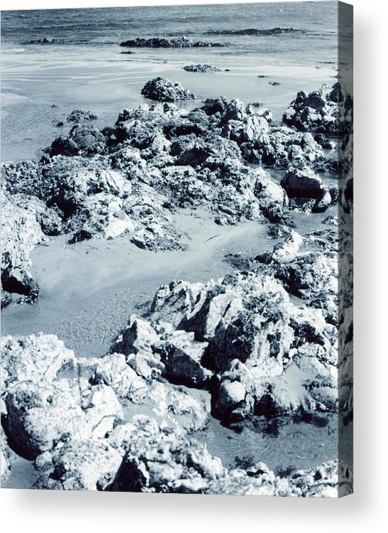 Ocean Acrylic Print featuring the photograph Rocks At Shoreline by Jennifer Ott